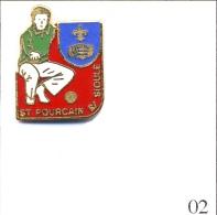 Pin´s - Sport - Pétanque / Club De St Pourcain Sur Sioule (03). Estampillé Béraudy. EGF. T426-02A - Petanca