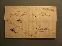 Prefilatelia - Prefilatelica - Da Bobbio A Goretto - 1841 - 1. ...-1850 Prephilately
