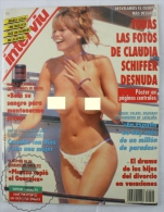 1993 Spanish Men´s Magazine - Claudia Schiffer Topless Images & 2 Pages Poster - Revistas & Periódicos