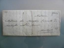 Prefilatelia - Prefilatelica - Da Bra A Montiglio - 1843 - 1. ...-1850 Prephilately