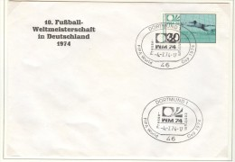 GERMANY Cover With Cancel Dortmund Presse Zentrum 4.7.1974 - Coppa Del Mondo