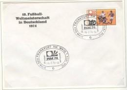 GERMANY Cover With Cancel Frankfurt Am Main Presse Zentrum 4.7.1974 - Coppa Del Mondo