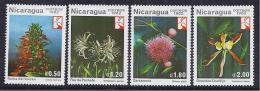 FLORES - NICARAGUA 1982 - Yvert #1218/21 - MNH ** - Plants