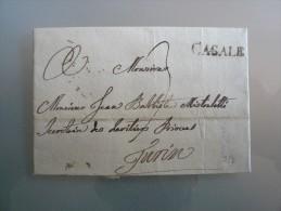 Prefilatelia - Prefilatelica - Da Casale A Torino - 1841 - 1. ...-1850 Prephilately