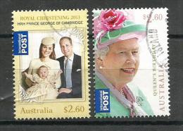 AUSTRALIE. Queen´s Birthday 2013,  2 T-p Oblitérés Sur Fragment NO CTO,haute Faciale De $ 5.20 - 2010-... Elizabeth II