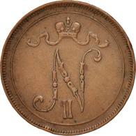 Finlande, Nicolas II, 10 Pennia, 1915, Cuivre, KM:14 - Finlande
