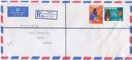 AF-L17 - ZAMBIE N° 9-13 Sur Lettre Recommandée Par Poste Aérienne De Ndola Pour Reims - Zambie (1965-...)