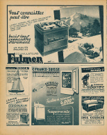 Ancienne Publicite (1952) : Batterie, Accumulateur FULMEN, Puy-de-Sancy, Mont-Dore, Canoës ROCCA... - Advertising