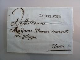 Prefilatelia - Prefilatelica - Da Castalnovo A Torino - 1841 - 1. ...-1850 Prephilately