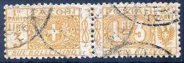 "MIC 1914/22 Pacchi Postali ""nodo Sabaudo"" Lire 3 Sassone N. 14 Usato / Used - Paquetes Postales"