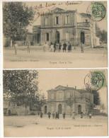 Mauguio 2 Cartes Ecole De Filles Et Ecole De Garçons Edit Sabatier Timbrée Mauguio 1907 - Mauguio
