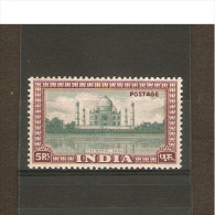 INDIA 1949 5R SG 322 MOUNTED MINT Cat £70 - 1936-47 King George VI