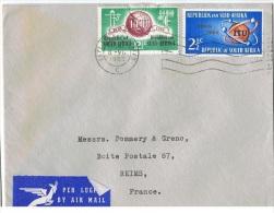 AF-L24 - AFRIQUE DU SUD N° 294/95 Sur Lettre Par Poste Aérienne De Cape Town Pour Reims Thème Télécommunications - Afrique Du Sud (1961-...)