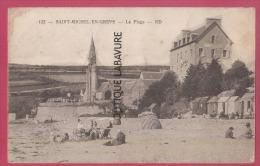 22 - SAINT MICHEL EN GREVE--la Plage---animé - Saint-Michel-en-Grève