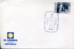 5242 Uruguay,  Fdc  2000  Charlie Chaplin - Cinema