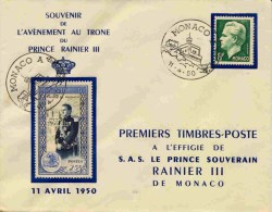 Timbre De Monaco Rainier III 25f Sur Lettre Avec Cachet Temporaire - RARE SUR LETTRE - Machine Stamps (ATM)