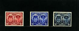 AUSTRALIA - 1945  GLOUCESTER  SET  MINT  SG 209/11 - 1937-52 George VI
