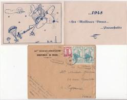 1948 LETTRE 25 ème DIVISION AÉROPORTÉE DU MAROC.. PARACHUTISTE A AGADIR  / 7456 - Sonstige