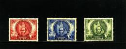 AUSTRALIA - 1946  MITCHELL SET MINT  SG 216/18 - 1937-52 George VI