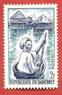 DAHOMEY BENIN MNH - 1963 - Jeune Piroguière, à Ganvié - 2 CFA - Michel DY 200 - Benin – Dahomey (1960-...)