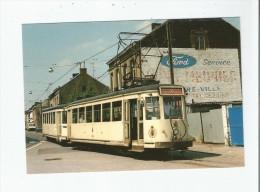 A HAINE ST PIERRE (LA LOUVIERE) 138 MOTRICE S 9079 ET REMORQUE 9316 SUR LA LIGNE 30.31 DE LA SNCV .4 06 1985 - La Louvière
