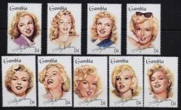 GAMBIA 1995 - Marilyn Monroe, Complete Set MNH - Gambia (1965-...)