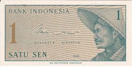 BILLETE DE INDONESIA DE 1 SEN AÑO 1964  (BANKNOTE) SIN CIRCULAR-UNCIRCULATED - Indonesia