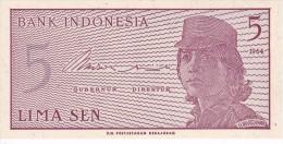 BILLETE DE INDONESIA DE 5 SEN AÑO 1964  (BANKNOTE) SIN CIRCULAR-UNCIRCULATED - Indonesia