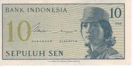 BILLETE DE INDONESIA DE 10 SEN AÑO 1964  (BANKNOTE) SIN CIRCULAR-UNCIRCULATED - Indonesia