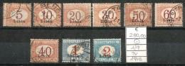 1915 LIBIA   Segnatasse Serie Non Completa Usata - Libia