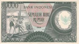 BILLETE DE INDONESIA DE 10000 RUPIAH AÑO 1964  (BANKNOTE) SIN CIRCULAR-UNCIRCULATED - Indonesia