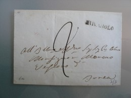 Prefilatelia - Prefilatelica - Da Rivarolo A Ivrea - 1. ...-1850 Prephilately