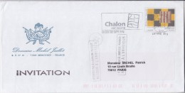 = Enveloppe Prêt à Poster Type Du N°2858 Entier Oeuvre De Sean Scully (Irlande) Chalon Sur Saône 4.11.2005 - Enteros Postales