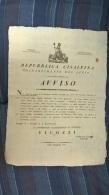1802 MANIFESTO BERGAMO Dip.SERIO REP.CISALPINA+EN TETE Su SPESE COMPAGNIA Militare BOUDEN-e507 - Manifesti