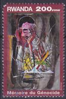 Timbre Oblitéré N° 1471(Michel) Rwanda 1999 - Mémoire Du Génocide, Voir Description - Rwanda