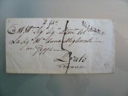 Prefilatelia - Prefilatelica - Da Valenza A Prato , Toscana - 1. ...-1850 Prephilately