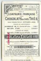 """LOTERIE De LA COMPAGNIE FRANCAISE Des CHOCOLATS - HUMOUR """" QUI SE SENT NERVEUX SE DOUCHE """""""