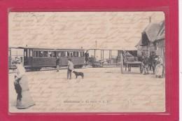 OUISTREHAM - 14 - CHEMINS DE FER - TRAINS - GARES - La Gare Et Le Trains - Animation - Ouistreham