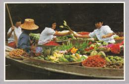 Thailandia--The Floating Market At Damnernsaduok In Rajchaburi - Tailandia