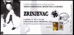 Croatia Zagreb 1996 / Bowls Christmas Tournament Zrinjevac Club De Boules / Invitation Card Pope John Paul II - Pétanque