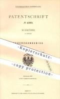 Original Patent - Schröder In Berlin , 1878 , Federzahngebiss , Gebiss , Zahn , Zähne , Zahnarzt , Medizin , Arzt !!! - Historische Dokumente