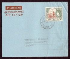 BASUTOLAND Aerogramme 6d Queen & Native 1955 Maseru Cancel To England! STK#X20226 - Basutoland (1933-1966)