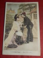"""FANTAISIES -  COUPLES - """" Le Rendez-vous -  Merci D'être Venu  """"   - 1906  -  (2 Scans) - Couples"""