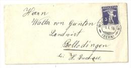 Neujahrs Brieflein  Wiedlisbach (Bern) - Bollodingen            1916 - Suisse