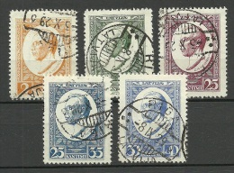LETTLAND Latvia 1929 Michel 144 - 148 A O - Lettonie