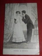 """FANTAISIES -  COUPLES - """"  Plaisirs De Jeunesse  """"   - 1906  -  (2 Scans) - Paare"""