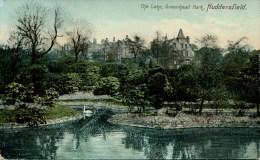 YORKS - HUDDERSFIELD - GREENHEAD PARK - THE LAKE 1907  Y2876 - England