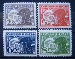 Österreich Flugpost 1925 Mi.Nr.468-471 * Top ! Ungebraucht      (A198) - Aéreo