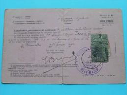 1er REGIMENT CYCLISTE ( Model 8 ) Autorisation / Vergunning Permanente ( BOON ) Bruxelles 1926 ( Details - Zie Foto ) ! - Documents