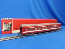 JOUEF H0 - Voiture SNCF UIC Rouge Réf 5270 - Scompartimento Viaggiatori